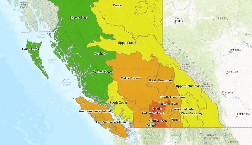 2017 Drought Conditon Map BC