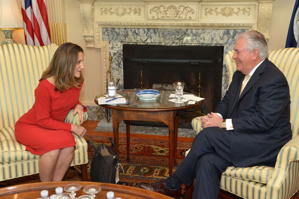 Secretary_Tillerson_Meets_With_Canadian_Foreign_Minister_Freeland_in_Washington_(32405077340)